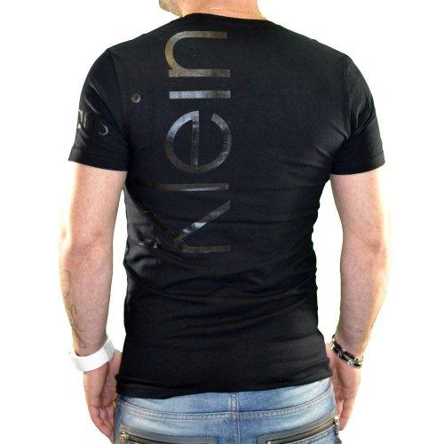 Calvin Klein Herren T-Shirt, kurze Ärmel, Cmp13s, Schwarz Schwarz - Schwarz