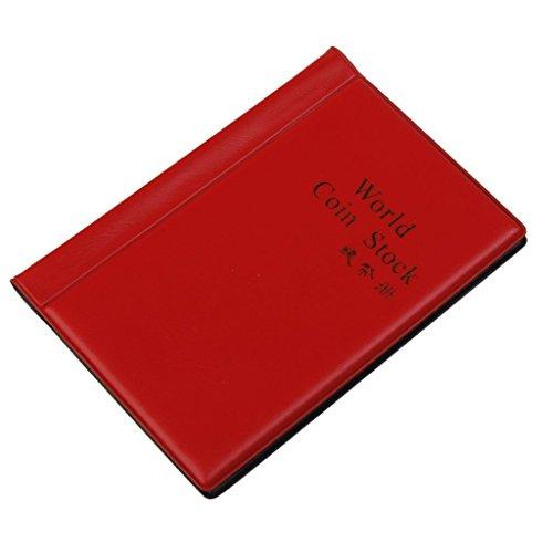Newin Star Sammler von Album, 120-Halter-Speicher Geld Penny Taschen Booklet-Buch, Rot