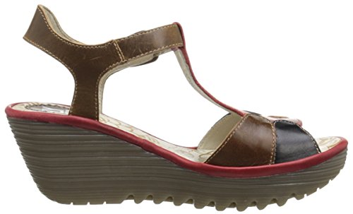 Fly LondonYILA630FLY - Sandali donna Marrone (Brown (Camel/Black/Red))