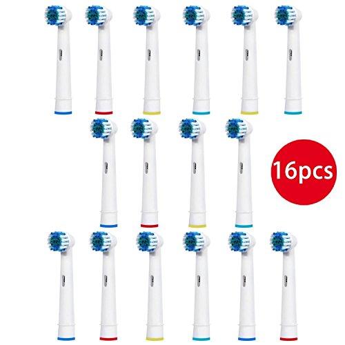 Reemplazo del Cepillo de Dientes de Oral B Cabezas de Cepillo de Dientes Eléctricas Compatibles Retira Cálculo Dental y Disminuye la Gingivitis -- Paquete de 16