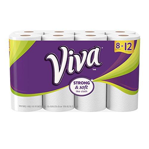Viva Giant Roll Paper Towels, White, 8 Rolls by Viva