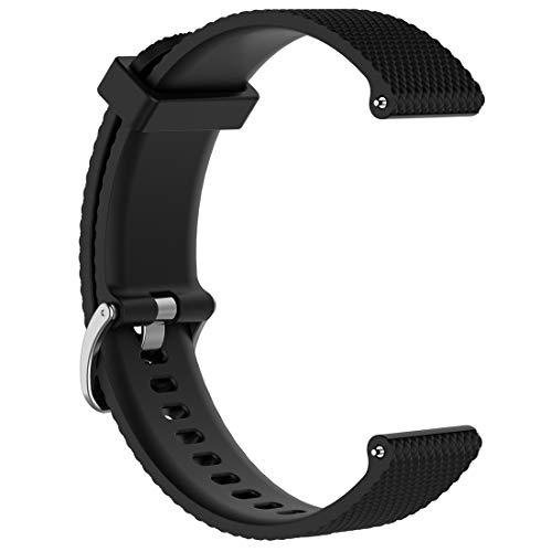 AWADUO Ersatz Silikon Handgelenk Band Strap für Huawei Watch GT Und Huawei Honor Watch Magic, weich und langlebig(Silikon Schwarz)