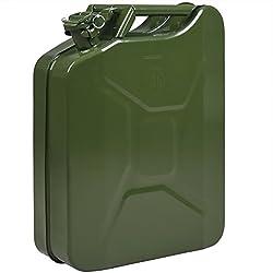 Jerrican Bidon en métal 20L - 36 x 17 x 46 cm Transport Stockage eau et liquides essence diesel voiture moto tondeuse
