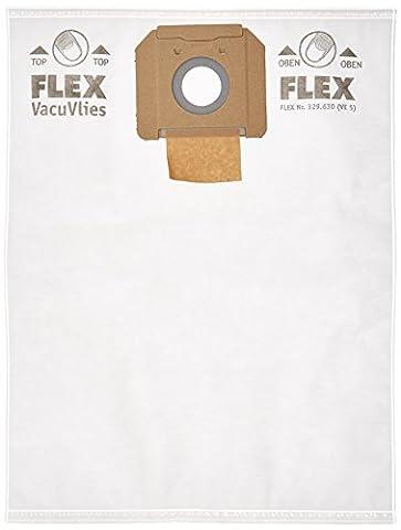 Flex en polaire Power Tools vce35fbag Filtre Sacs–Rouge (Lot de 5)