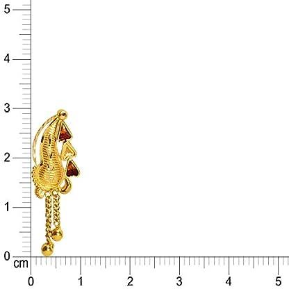 Benud Behari Dutt 22KT Gold Drop Earrings for Women