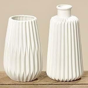 boltze vasen set 2 st ck wei h17cm k che haushalt. Black Bedroom Furniture Sets. Home Design Ideas