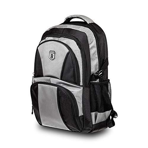 Elitar Rucksack Damen Herren Kinder Ergonomisch Daypack 34 Liter XL groß Organizer Handgepäck Backpack Schwarz Grau