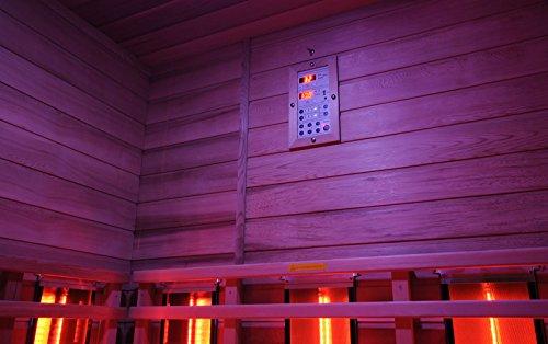 """Infrarotkabine """"Teneriffa"""" Infrarot Sauna für bis zu 3 Personen Wärmekabine Infrarotsauna Eckvariante -"""
