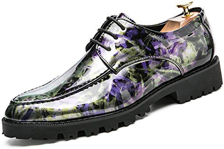 Men's Business Oxford Casual Pinnacle British Fashion Personality Respira Scarpe Formali in Vernice Scarpe da... | Exquisite (medio) lavorazione  | Scolaro/Ragazze Scarpa
