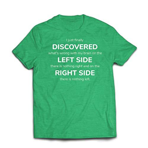 lepni.me Männer T-Shirt Auf der linken Seite gibt es Nichts mehr, auf der rechten Seite Nichts mehr. (Medium Heidekrautgrün Mehrfarben)