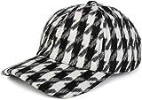 styleBREAKER 6-Panel Cap mit Pepita Hahnentritt Muster, Baseball Cap, Basecap, verstellbar, Unisex 04023059, Farbe:Schwarz-Weiß