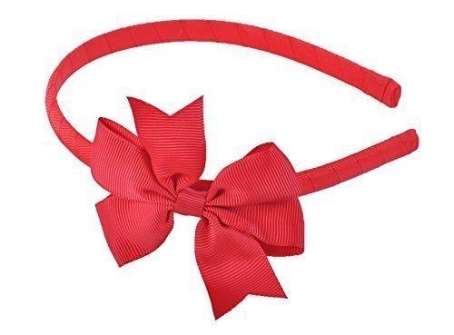 Haarreifen mit schönen Grob geripptes seidentuch Haarschleife Haarschleife Band Haarband - Rot