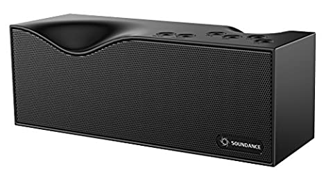 Soundance® Bluetooth Speakers With FM Radio, Built-in Mic, LED Display, Support 3.5mm Audio Line In, TF Card/Micro SD Card & USB Input, Model B1 (Black)