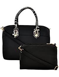 Mark & Keith Women BLACK Handbag(MBG 0508 BLACK)