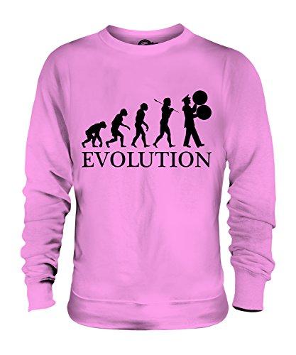Candymix Marching Band Spielmannszug Evolution des Menschen Unisex Herren Damen Sweatshirt, Größe 2X-Large, Farbe Rosa