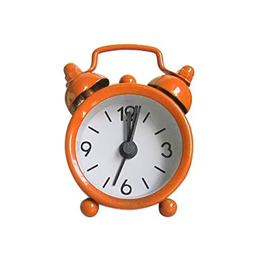 sunnymi Mini Digitale Wecker Metal Uhr Kreativ Elektronische Nette Kleine Wecker (Orange, 6.3x2x4.3cm)
