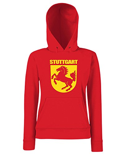 T-Shirtshock - Sweats a capuche Femme TSTEM0254 stuttgart Rouge