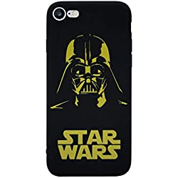 iPhone 5/5s Star Wars Étui en Silicone/Coque de Gel pour Apple iPhone 5s 5 Se/Protecteur D'écran et Chiffon/iCHOOSE / Darth Vader