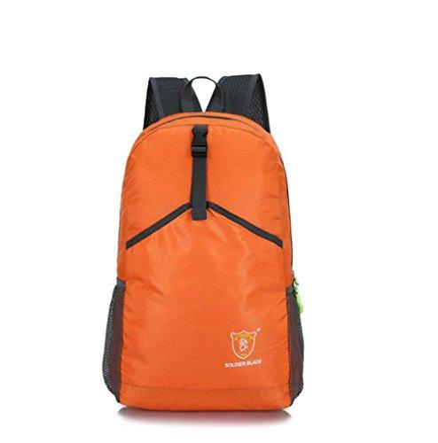 SZH&BEIB Faltbare Rucksack Wasserdichte Nylon Ultra Light für Reit Tasche Wandern Wasser-Beutel D