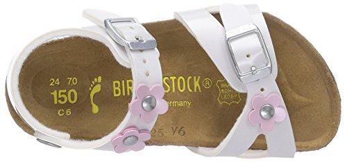 Birkenstock Rio, Sandales mixte enfant Blanc (Pearly White)