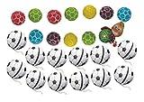 Schnäppchenladen24  Trostpreis Set 12x Fußball Yo Yo + 12x Fußball Kaugummis 24 Teile