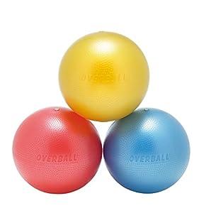 Overball 23cm BLAU ROT GELB PILATESBALL Gymnastikball, Yoga Übungsball,...