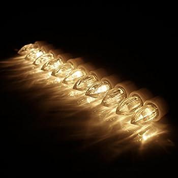 Kefflum 30er Weinachten Led Kerzen Kabellos Weihnachtskerzen Christbaumkerzen Dimmen Flackern Baumkerze-set,kerzen Lichtfarbe Warmweiß 5