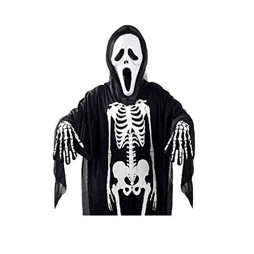 Blisfille Toten Kopf Skelett Geist Kleidung Maskerade Kostüme Halloween Kostüme Kleidung Erwachsene Kinder Horror Maske Einzelstück Erwachsene Skelett Geist Kleidung Für Mädchen