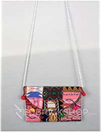 Red Brick Shop Patch Work Pompom White Kutchi Sling Bag For Girls And Women GJV0033BG947AOS17