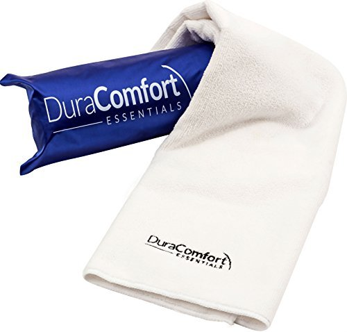 DuraComfort Essentials Super Absorbent Anti-Frizz Mikrofaser Hair Towel, Große 41 x 19-Zoll Weiß