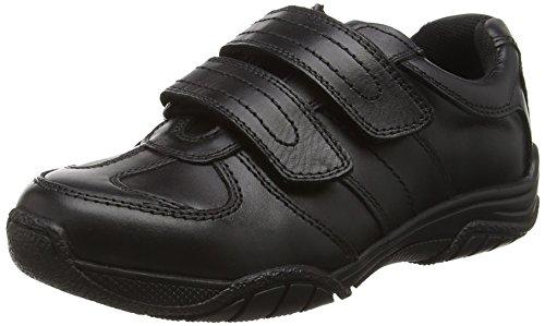 97683e1dbfe0e Toughees Shoes Boys' Chivers Double Velcro Comfort Insole, (Black), 6 UK 40  EU