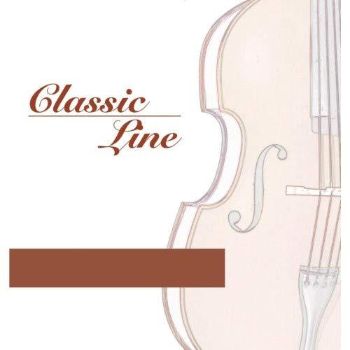Gewa pure F641054 Cello Saiten Satz Classic Line Zoll3/4 Zoll Mittlere Spannung Stahl