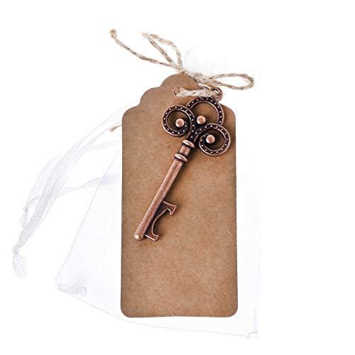 CADANIA Tragbare Legierung Key Shaped Skeleton Bier Wein Flaschenöffner Hochzeit Souvenir Geschenke Werkzeuge Schlüsselbund Mit Escort Tag Karte 2#