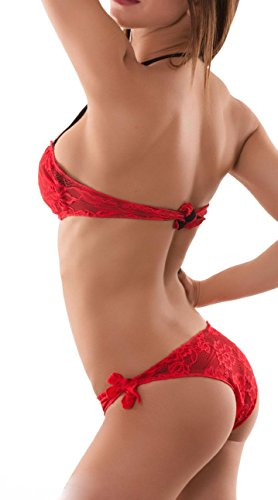 Millennium Star - Lily costume da bagno bikini a fascia imbottita e slip Rosso