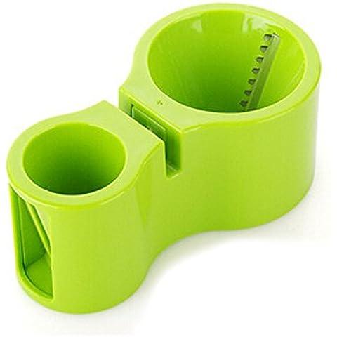 YOKIRIN Rallador Esdpiral Cortador de Verduras con el Afilador de Cuchillos