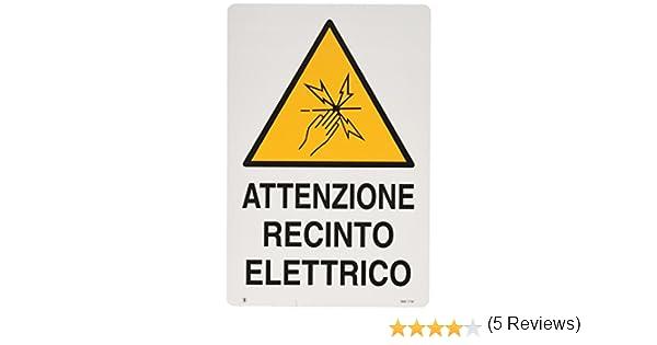 20x30  5 PEZZI ATTENZIONE RECINTO ELETTRICO CARTELLO RECINTI ELETTRICI CM
