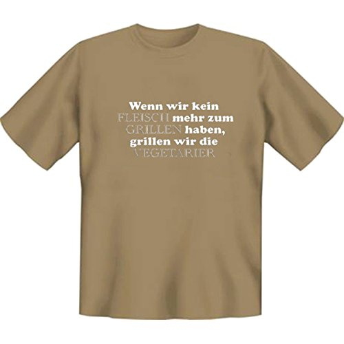 DAS Shirt für BBQ-Fans und Grillprofis: Wenn wir kein Fleisch mehr zum Grillen haben T-Shirt, Farbe sand, Sand-Braun
