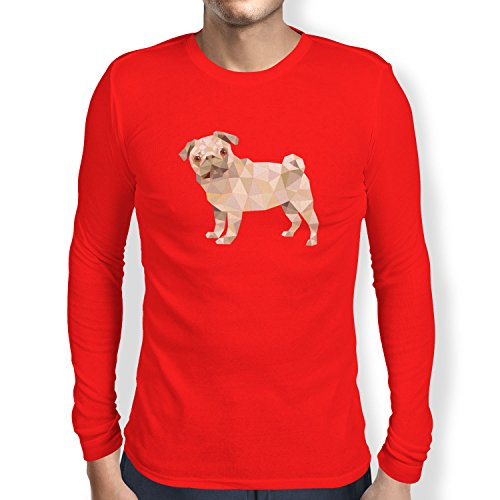 TEXLAB - Poly Pug - Herren Langarm T-Shirt Rot