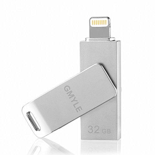 Apple-MFi-zertifiziert-Flash-Laufwerk-fr-iPhone-iPad-USB-20-mobiler-GMYLE-Flash-Laufwerk-Speicherstick-mit-Lightning-Anschluss