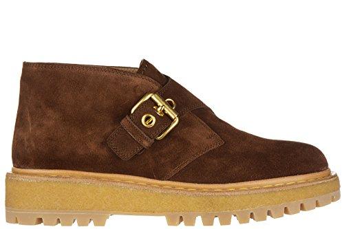 Car Shoe polacchine stivaletti scarpe donna camoscio marrone EU 38.5 KDT69M 053 F0038