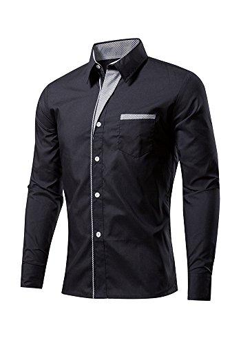 BSNQA - Chemise habillée - Homme Noir