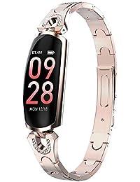 AK16 - Reloj Inteligente para Mujer (Resistente al Agua), Color champán