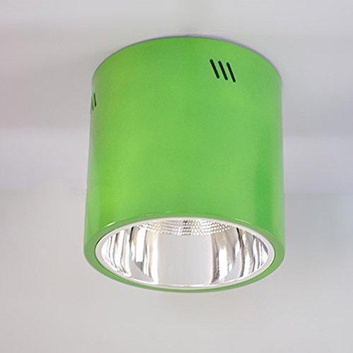LXSEHN 8 Pouces LED Coloré Downlight Plafonniers Jardin D'enfants Cour De Récréation Fabrique D'allée Bureau Bâtiment Éclairage Plafonniers / 225mm * 215mm / 5730 LED / 8W ( Couleur : Vert )