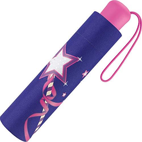 Scout Kinder Regenschirm Taschenschirm Schultaschenschirm mit großen Reflektionsflächen extra leicht Magic Wand