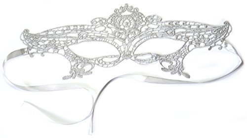 PRESKIN     Lace mask silver for carnival  Venetian sexy mask seduction from lace for carnival  party  ball  face  eye  Shades of Gray