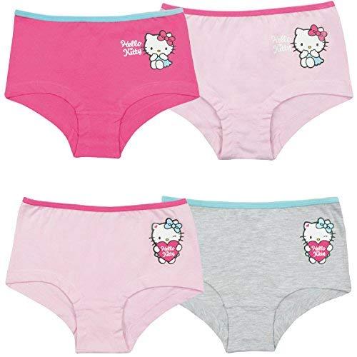 Hello Kitty Mädchen Panty, 4er Pack, Gr. 110/116