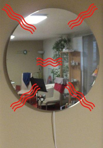 Miroir rond cm for Miroir rond sans cadre