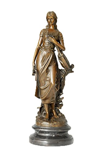 Toperkin H.Moreau Indor Decoration Women Sculpture Antique Ladies Figure Statue -