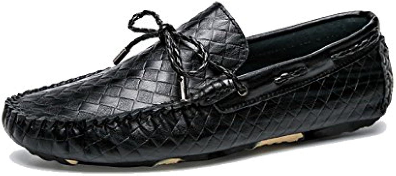 XYNZKZ Herren Lässig Atmungsaktiv Rutschfest Komfortabel Britisch Mode Lederschuhe