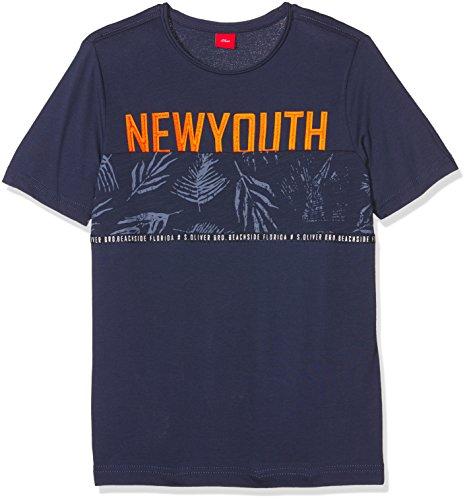 s.Oliver Jungen T-Shirt 61.804.32.5150, Blau (Dark Blue 5816), 164 (Herstellergröße: L/REG)